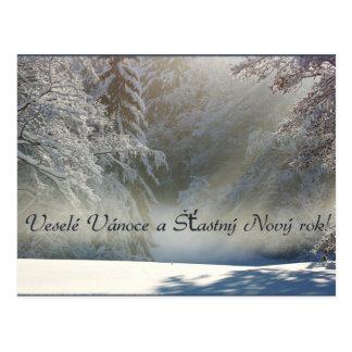 Veselé Vánoce a Šťastný Nový rok! Post Card
