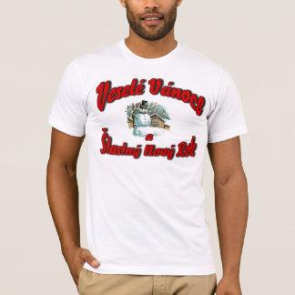 Veselé Vánoce a Šťastný Nový Rok T-Shirt