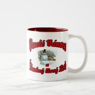Veselé Vánoce a Šťastný Nový Rok Two-Tone Coffee Mug