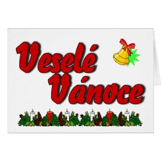 Veselé Vánoce - Merry Christmas in Czech! Card