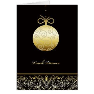 veselé Vánoce, Merry christmas in Czech Card