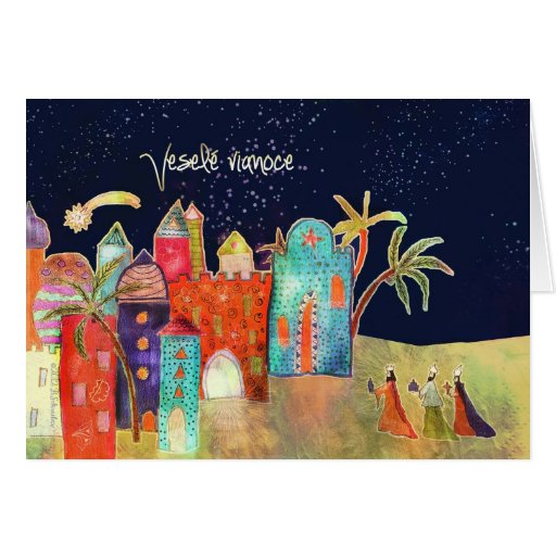 Veselé vianoce, Merry Christmas in Slovak Greeting Card