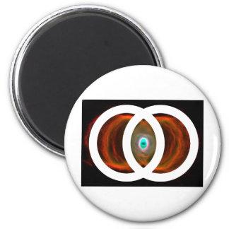 Vesica Piscis Hourglass Nebula 2 Inch Round Magnet