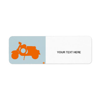 Vespa anaranjada etiqueta de remitente