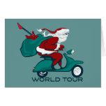 Vespa del viaje del mundo de Santa Felicitación