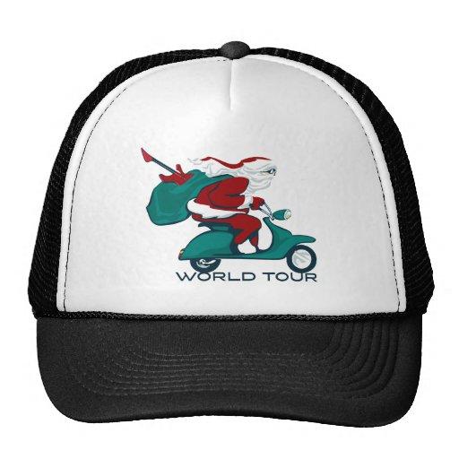 Vespa del viaje del mundo de Santa Gorras De Camionero