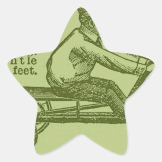 vespa del vintage pegatina en forma de estrella