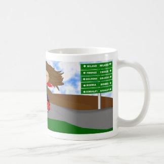 Vespa Diva - Italian Road Trip Classic White Coffee Mug