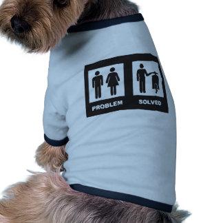 Vespa divertida camisetas de perro