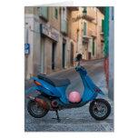 Vespa en Italia Tarjeta