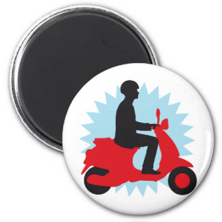 Vespa more scooter 2 inch round magnet