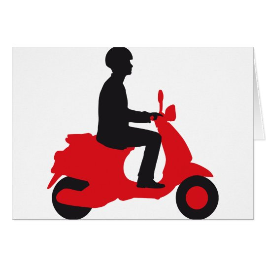 Vespa more scooter card