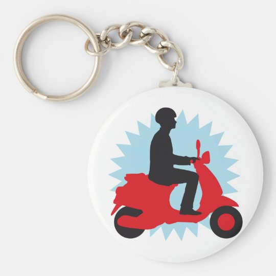 Vespa more scooter keychain