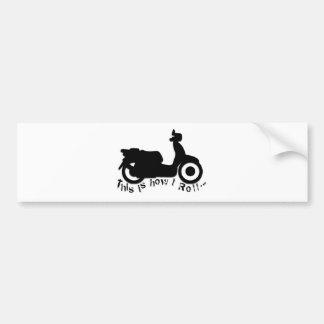 ¡Vespa o E-Bici - éste es cómo ruedo! Pegatina De Parachoque