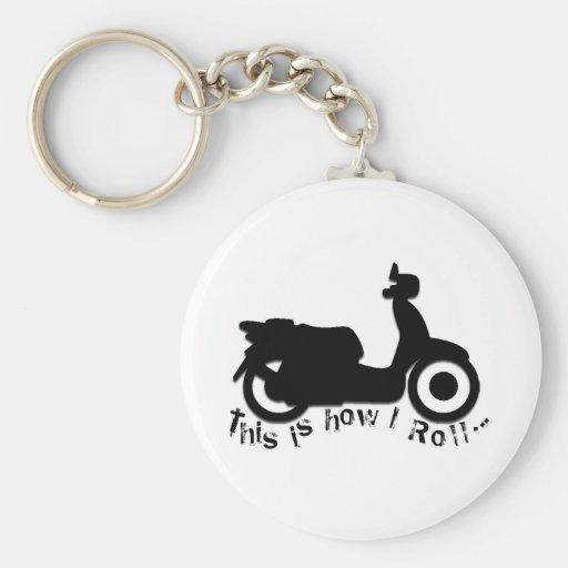 ¡Vespa o E-Bici - éste es cómo ruedo! Llaveros