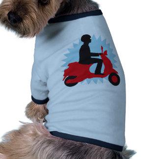 Vespa scooter t-shirts de mascota