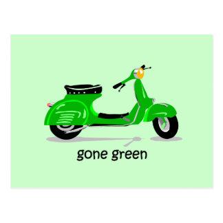vespa verde ida tarjetas postales