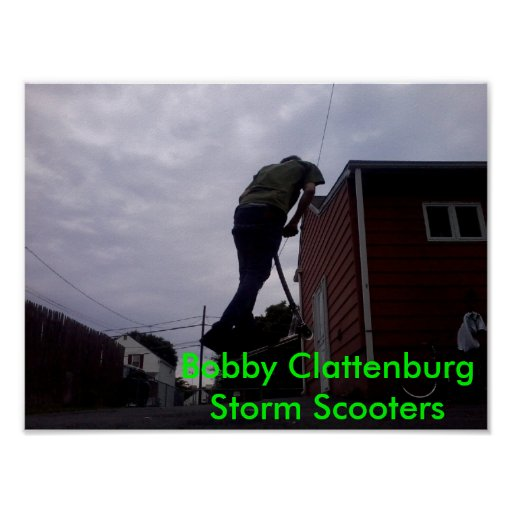 Vespas de la tormenta de Bobby Clattenburg Póster