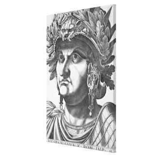 Vespasian (9-79 AD), 1596 (engraving) Canvas Print