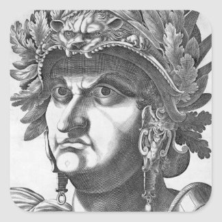 Vespasian (9-79 AD), 1596 (engraving) Square Sticker