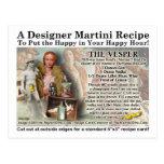 Vesper Martini Recipe Postcard