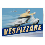 Vespizarre Retro Scooter Advert Greeting Cards