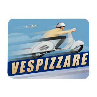 Vespizarre Retro Scooter Advert Magnet
