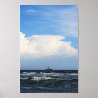 Vessel at Sea Poster
