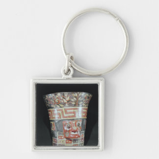 Vessel depicting corn yams and animals keychain