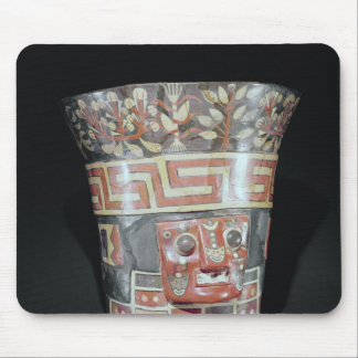 Vessel depicting corn yams and animals mouse pad