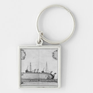 Vessel lying on its hull keychain