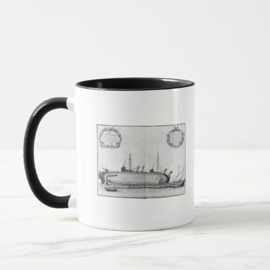 Vessel lying on its hull mug