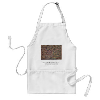 Vessel With Floral Motif And Crown Adult Apron