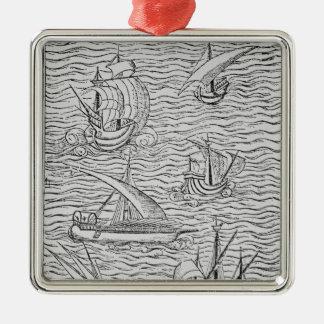 Vessels of Early Spanish Navigators Metal Ornament