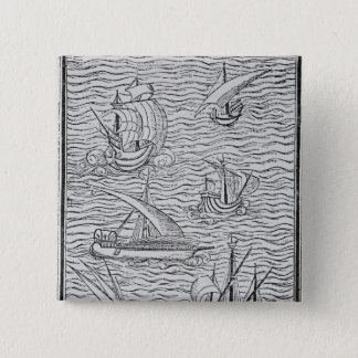 Vessels of Early Spanish Navigators Pinback Button