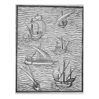 Vessels of Early Spanish Navigators Postcards
