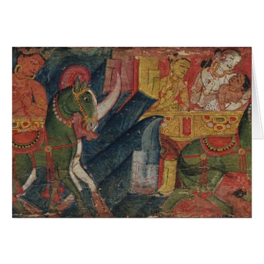 'Vessnatara Jataka', from a manuscript cover, Pala Card