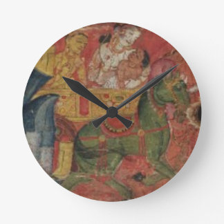 'Vessnatara Jataka', from a manuscript cover, Pala Round Clock
