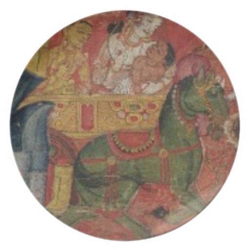 'Vessnatara Jataka', from a manuscript cover, Pala Party Plate