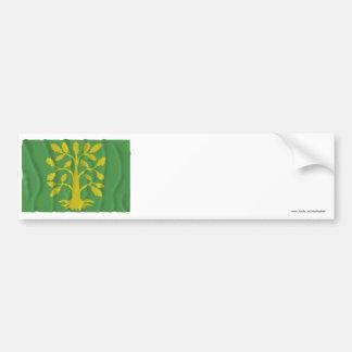 Vest-Agder waving flag Bumper Stickers