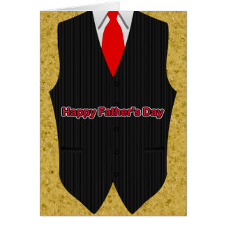 Vest, Shirt And Tie, Father's Day Card