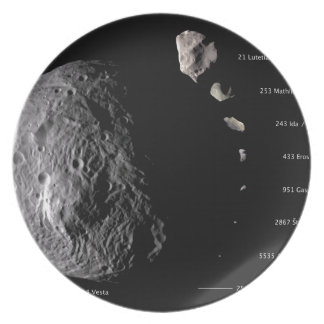 Vesta and Asteroid Gallery Plate