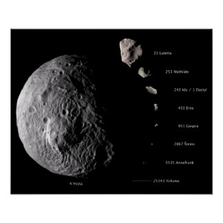 Vesta and Asteroid Gallery Poster