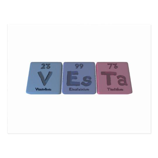 Vesta as Vanadium Einsteinium Tantalum Postcard