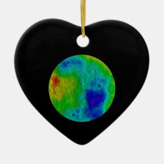 Vesta Asteroid / Protoplanet Simulation Ceramic Ornament