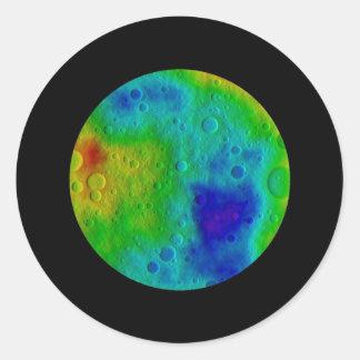 Vesta Asteroid / Protoplanet Simulation Classic Round Sticker