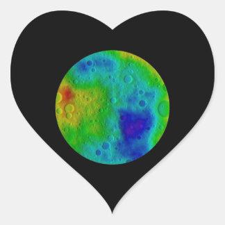 Vesta Asteroid / Protoplanet Simulation Heart Sticker