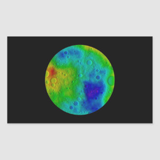 Vesta Asteroid / Protoplanet Simulation Rectangular Sticker