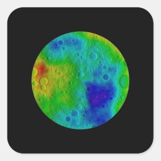 Vesta Asteroid / Protoplanet Simulation Square Sticker