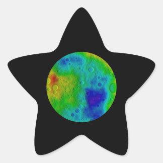 Vesta Asteroid / Protoplanet Simulation Star Sticker